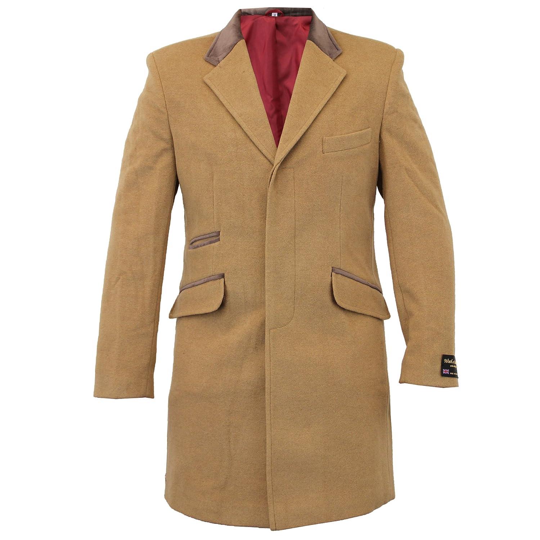 Mens Wool & Cashmere Luxury Blend Formal Coat Long Coats: Amazon ...