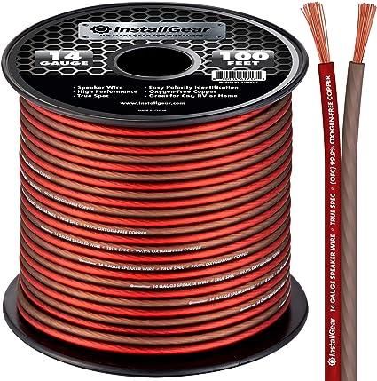 InstallGear 9 Gauge Speaker Wire OFC Oxygen-Free Copper, 9-feet