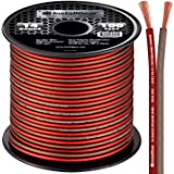 InstallGear 14 Gauge AWG 100ft Speaker Wire 99.9% Oxygen-Free Copper True Spec and Soft Touch Cable - Red / Brown