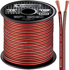 InstallGear 14 Gauge Speaker Wire OFC Oxygen-Free Copper, 100-feet