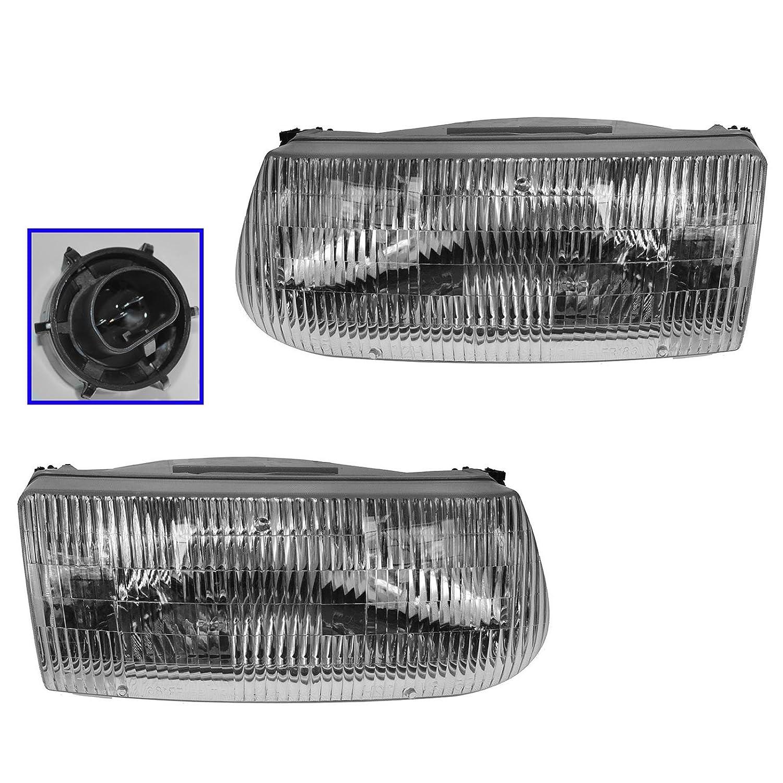 Halogen Headlight Set For 97 Mercury Mountaineer Sport Utility Left /& Right Pair