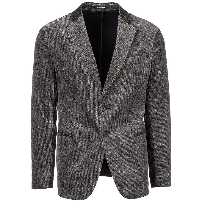 Emporio Armani cazadoras hombres americana chaqueta nuevo gris EU 50 (UK 40) 11G28S11686: Amazon.es: Ropa y accesorios