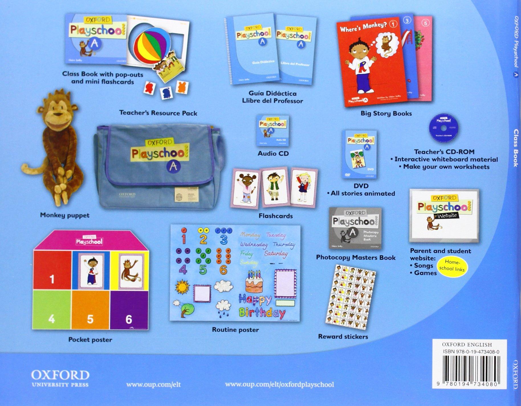 Oxford Playschool a Class Book - 9780194734080: Amazon.es: Claire Selby:  Libros