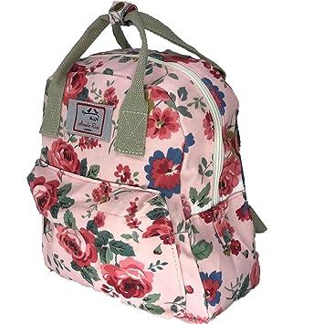 ... Rose London® Floral Design vintage Flower style Backpack Rucksack  holiday travel Lady women mini Handbag - Small Girl School Bag (Pink)   Amazon.co.uk  ... 625b8f62fe