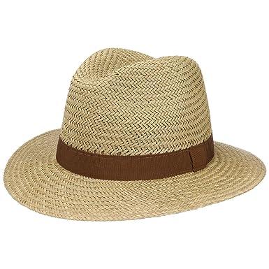 4b7be912515 Lipodo Sun Traveller Straw Hatfor Men Men´s hat Straw hat with Grosgrain  Band Spring