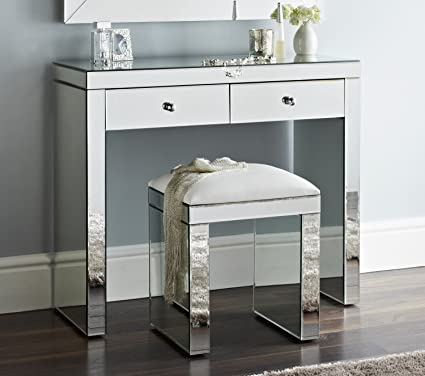 competitive price 9e4c7 6a21c Niches Luxury Venetian Mirror Dressing Table & Stool With ...