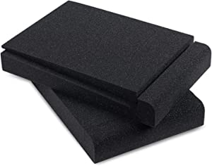 Sound Addicted - Studio Monitor Isolation Pads for 5 Inch Monitors, Pair of Two High Density Acoustic Foam which Fits most Speaker Stands | SMPad 5
