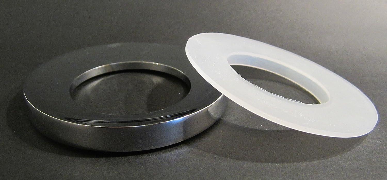 Montagering Distanzring Chromring zur Montage von Aufsatz Waschbecken massiv Messing