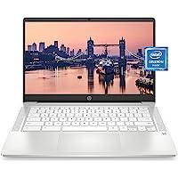 "HP Chromebook 14 Laptop, Intel Celeron N4000 Processor, 4 GB RAM, 32 GB eMMC, 14"" HD Display, Chrome, Lightweight…"