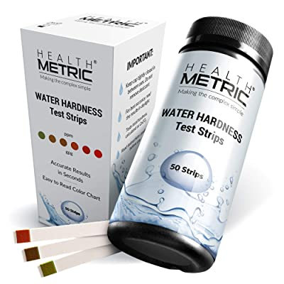 Premium Water Hardness Test Kit - Quick and Easy Hard Water Test Strips for Water Softener Dishwasher Well Spa and Pool Water | 50 Tester Strips at 0-425 ppm | Calcium and Magnesium Total Hardness : Garden & Outdoor