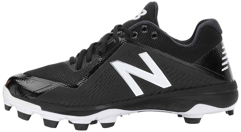 New Balance Men's Men's Men's PL4040v4 Molded Baseball schuhe, schwarz Weiß, 6 D US 72362c