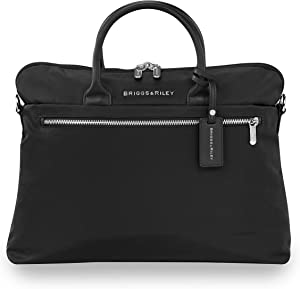 Briggs & Riley Rhapsody-Slim Business Laptop Shoulder Bag, Black, One Size