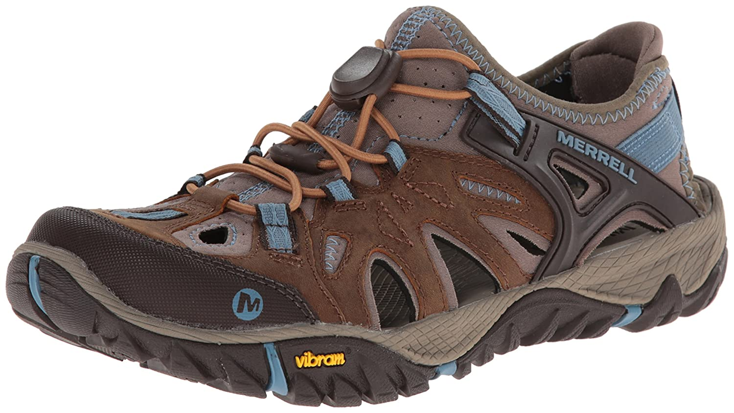 Merrell Women's All Out Blaze Sieve Water Shoe B00KZITQPW 8.5 B(M) US|Brown Sugar/Blue Heaven