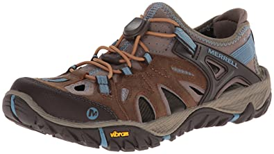 Merrell Women's All Out Blaze Sieve Water Shoe,Brown Sugar/Blue Heaven,5