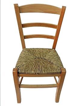 chaise artisanale avec structure en htre et assise en paille - Chaise Hetre Assise Paille