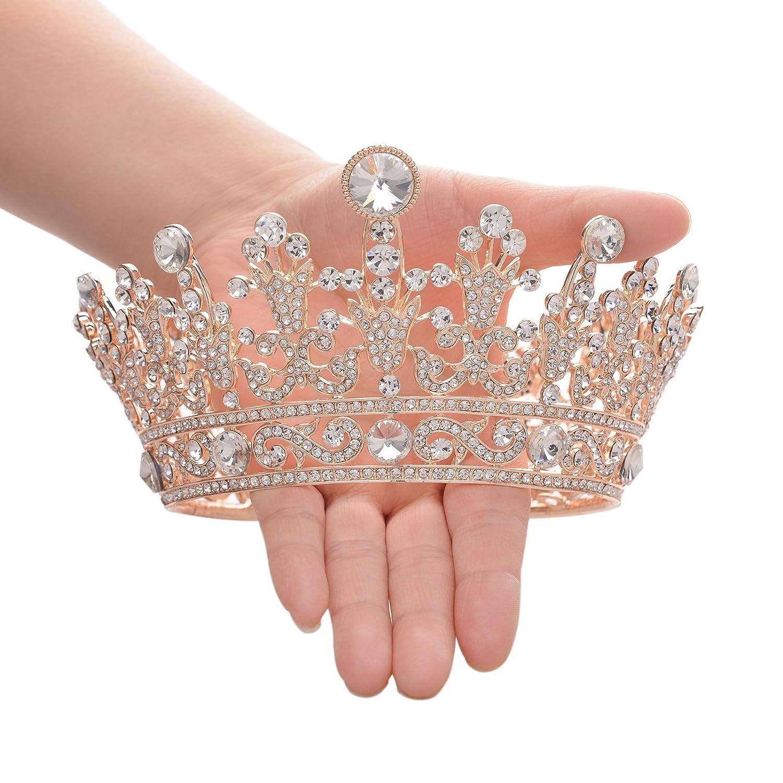 Rose Gold rhinestone tiara