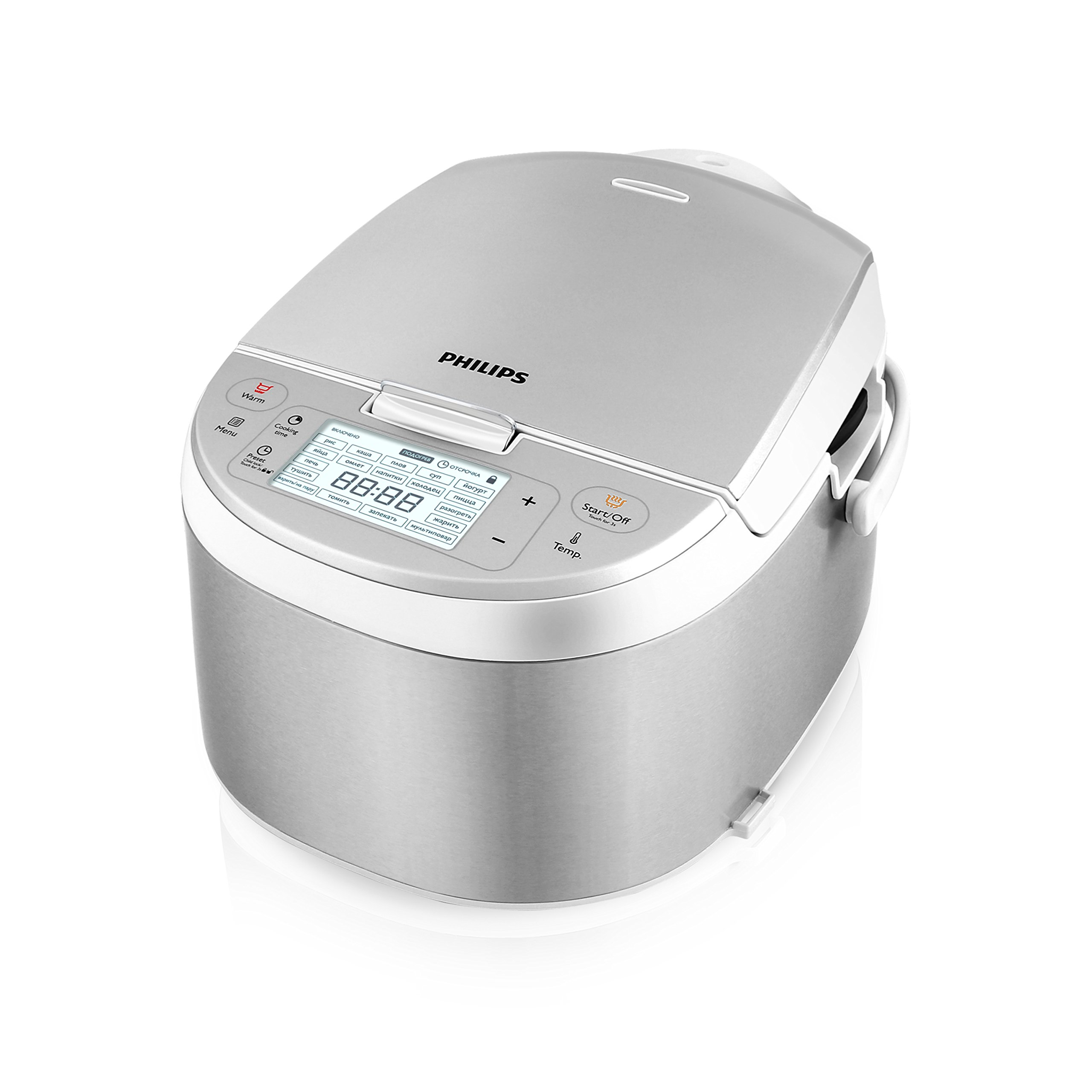 Philips All-in-One Cooker: Rice, Brown/Saute, Steamer, Slow Cooker, HD3095/87