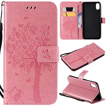 the best attitude 304b3 45184 NOMO iPhone XR Case,iPhone XR Wallet Case,iPhone XR Flip Case PU Leather  Emboss Tree Cat Flowers Folio Magnetic Kickstand Cover with Card Slots for  ...
