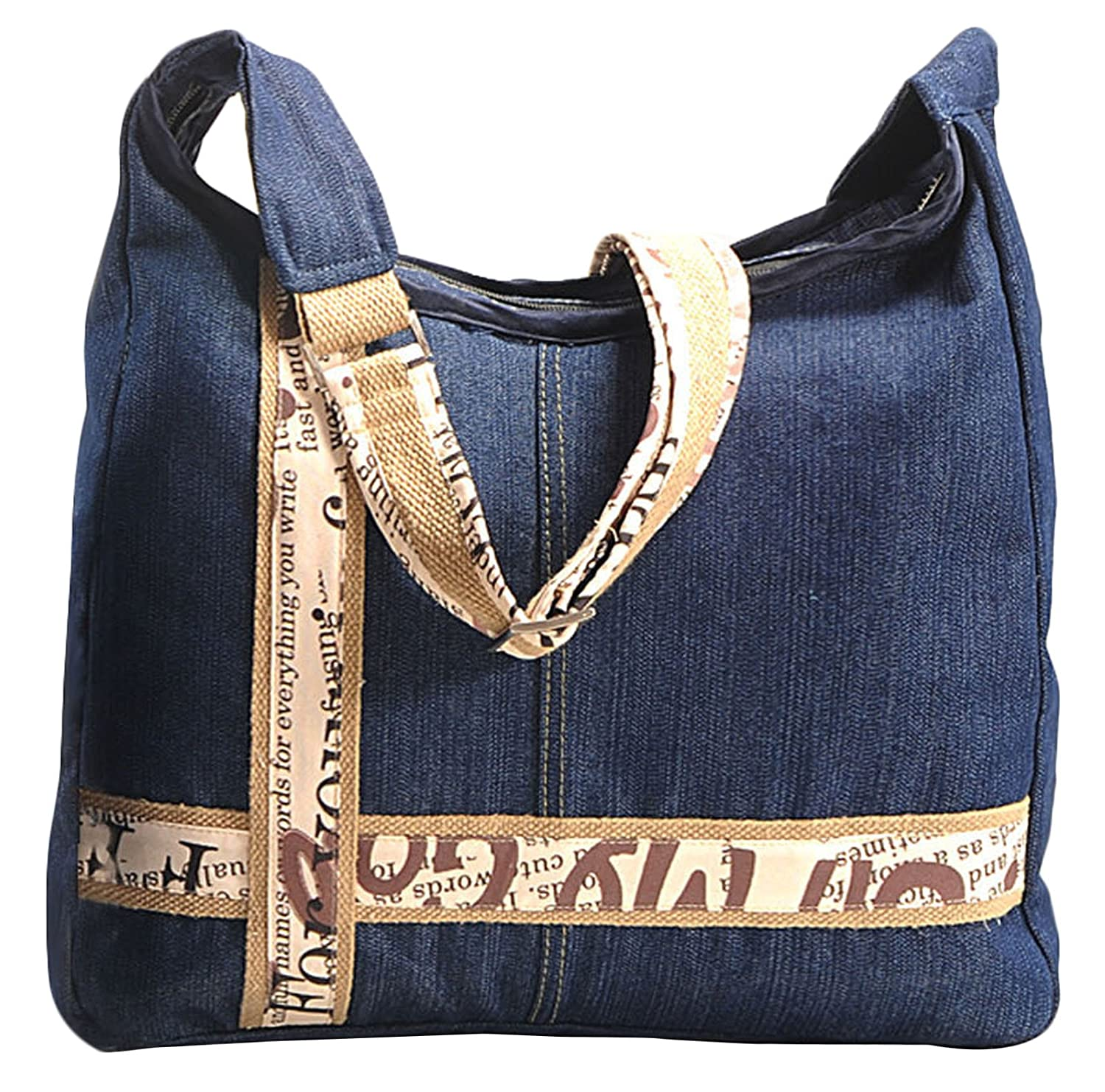 97b5770383 Yuga Women s Designer Denim Messenger Crossbody Shoulder Bag Handbag   Handbags  Amazon.com