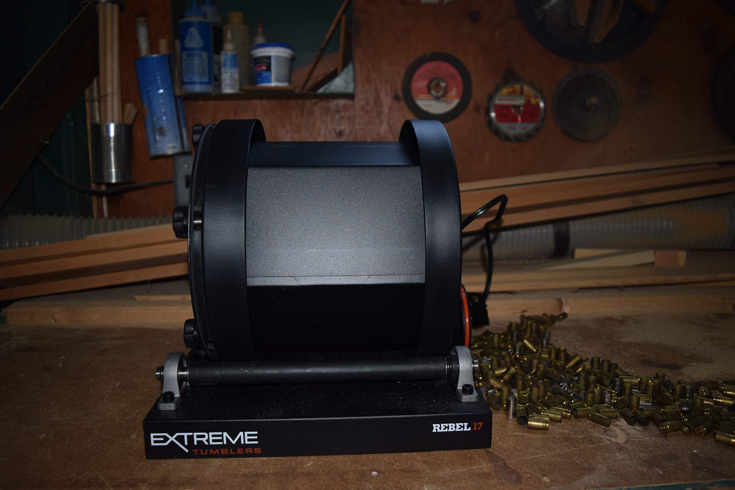 Extreme Tumblers Stainless Steel Deluxe Ammo Reloading Kit Rebel 17 Tumbler - Media Separator - Stainless Steel Media - Detergent by Extreme Tumblers (Image #4)