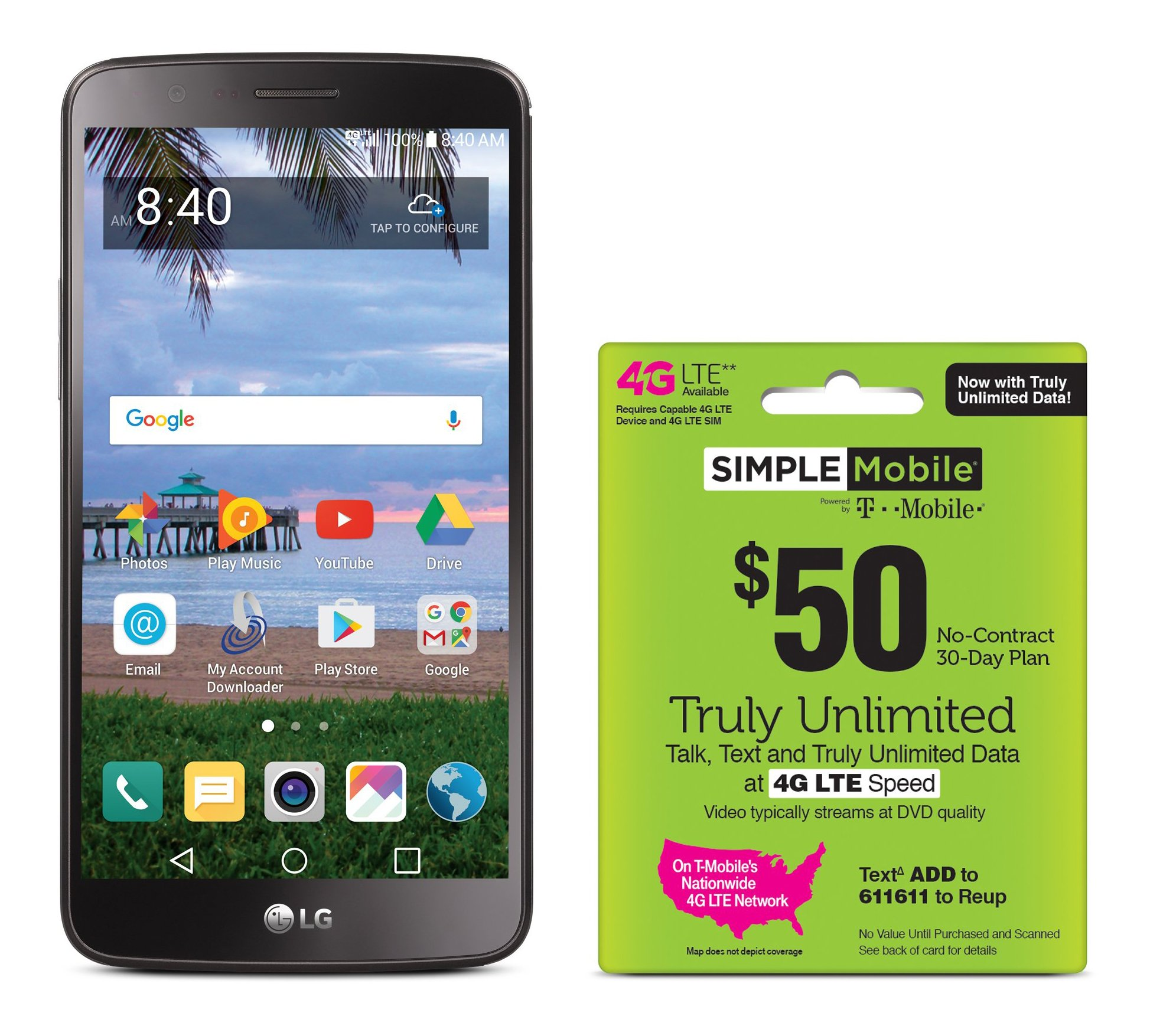 Simple Mobile LG Stylo 3 4G LTE Prepaid Smartphone with Free $50 Unlimited Bundle by Tracfone (Image #1)