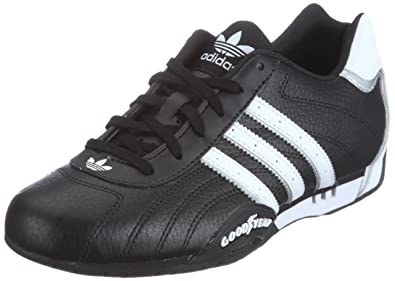 newest adb3e 57bcf adidas Originals Mens Adi Racer Low-2 Trainers G16082 BlackWhiteMetallic  Silver