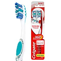Amazon.com deals on 2-Count Colgate 360 Advanced Optic White Toothbrush, Soft