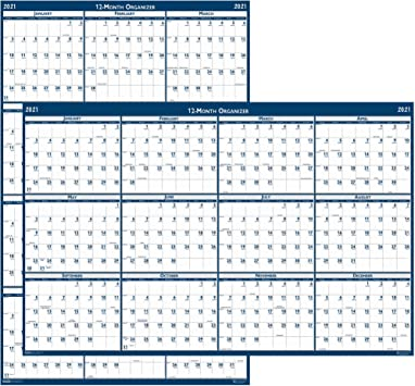 House of Doolittle 2021 Laminated Wall Poster Planner HOD3962 Reversible