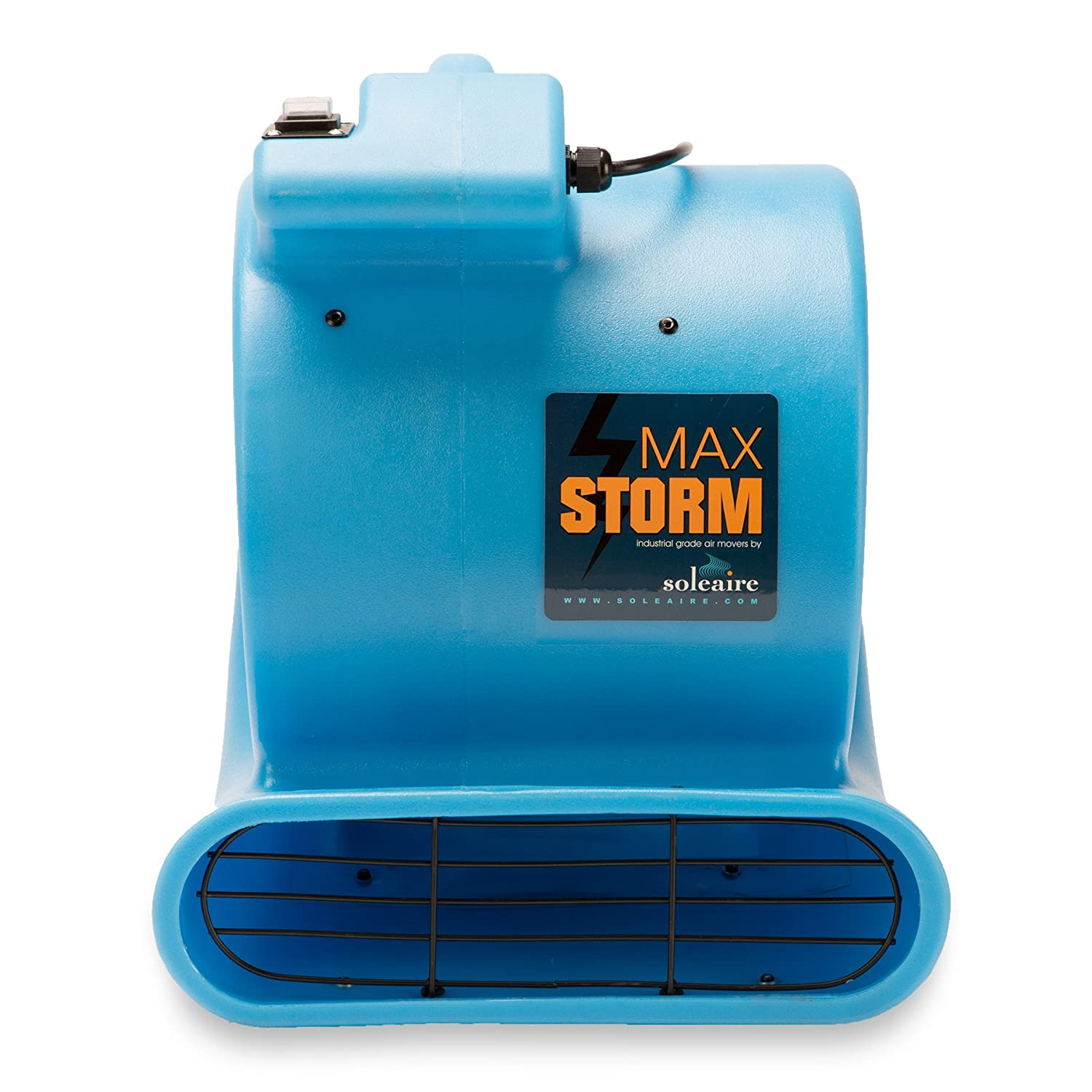 Soleaire Max Storm 1//2 HP Durable Lightweight Air Mover Carpet Dryer Blower Floor Fan for Pro Janitorial Renewed Blue