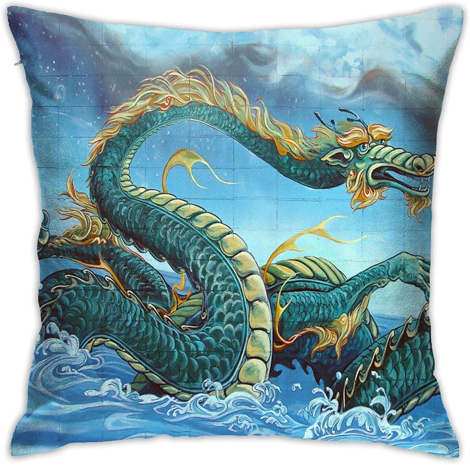 18x18 Dragons Are Real Throw Pillow Cover