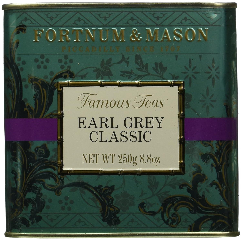 Fortnum & Mason British Tea, Earl Grey Classic, 250g Loose English Tea in a Gift Tin Caddy