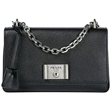 Image Unavailable. Image not available for. Color  Prada Women s Saffiano  Lux Shoulder Bag Black 6765597a6c637