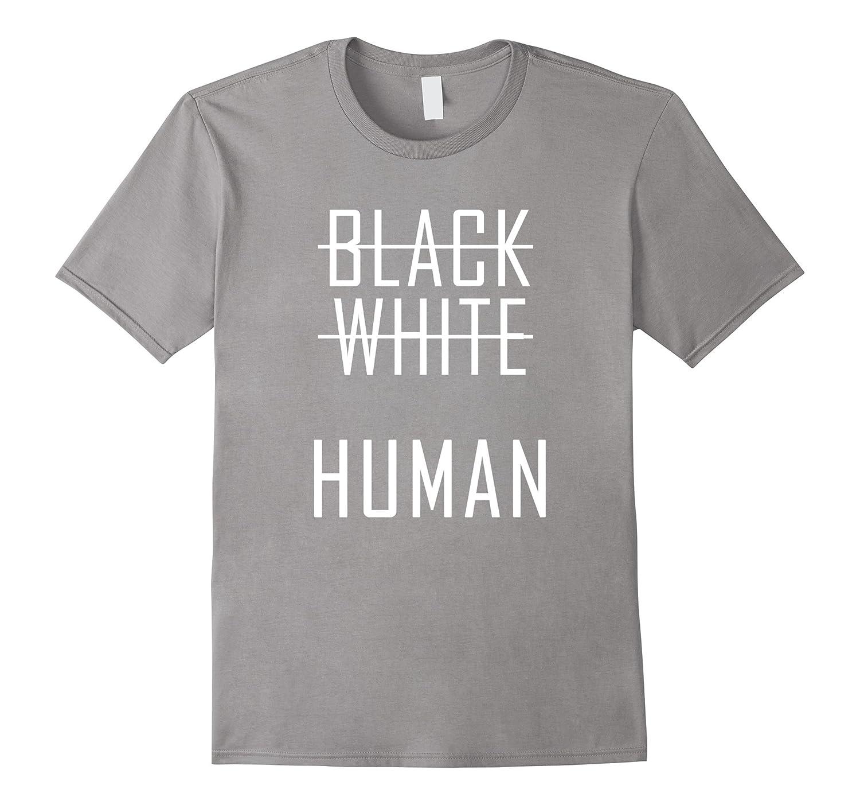Black white Human Shirt-TH