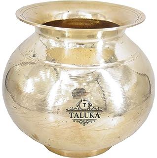 Taluka Brass Puja Lota Kalash Drink Ware Wedding Purpose Temple Decor 600 ML Decorative & Attractive Pot