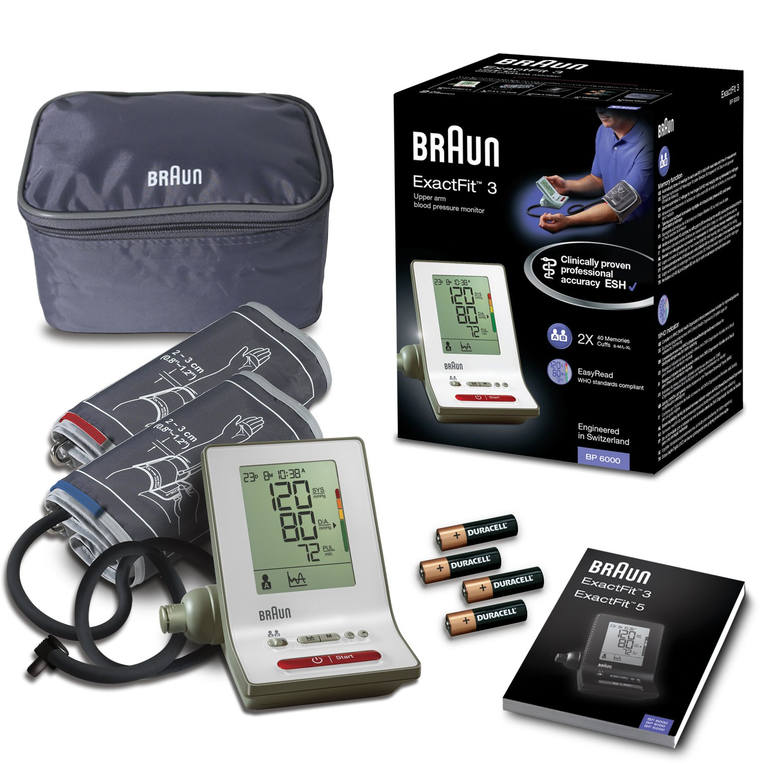 Amazon.com: Braun Bp6000 Upper Arm Blood Pressure Monitor (White): Health & Personal Care
