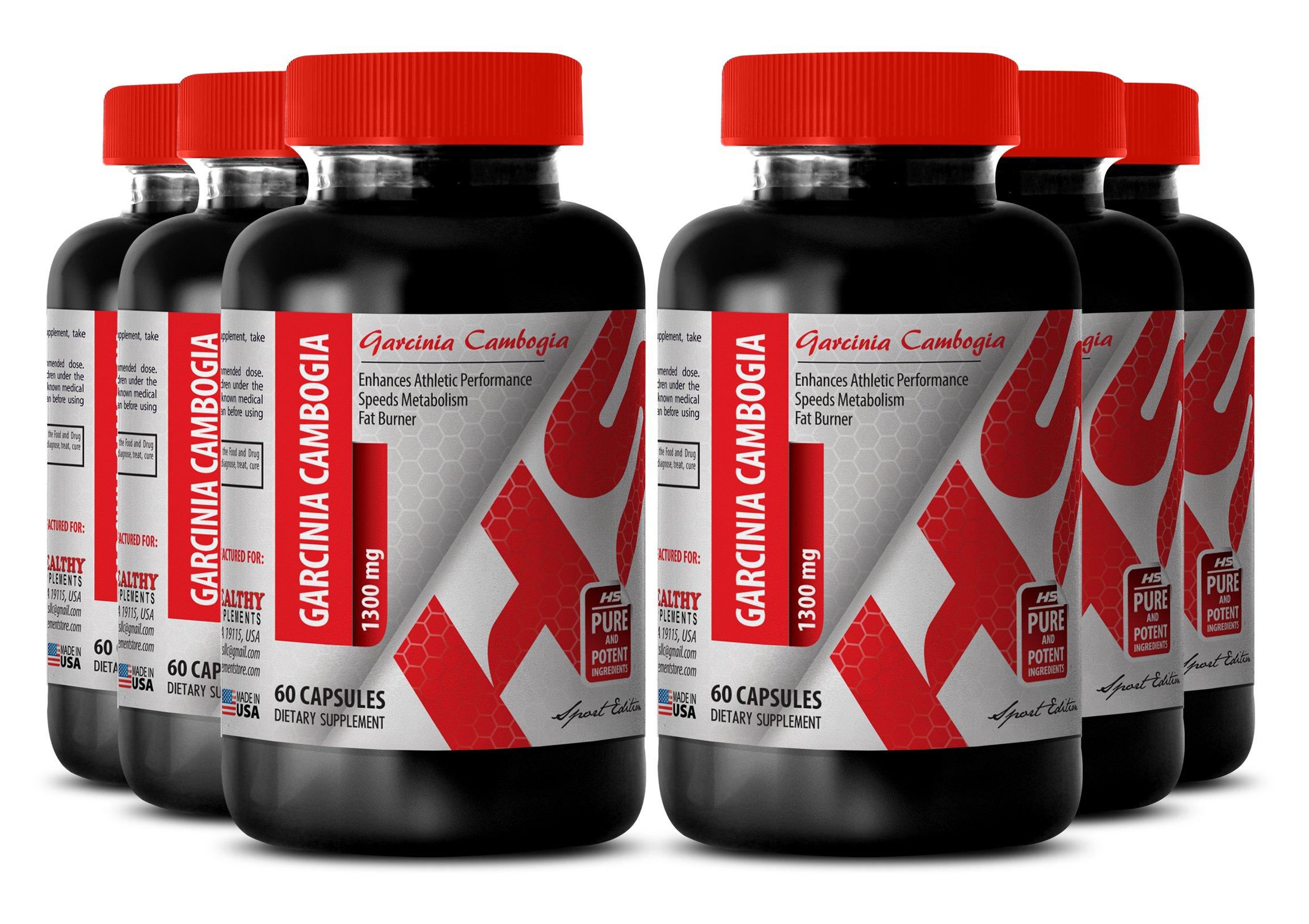 Garcinia cambogia green coffee bean - GARCINIA CAMBOGIA 1300MG - for weight loss results (6 Bottles)