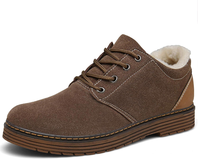 Bosleng Winterschuhe Herren Damen Winterstiefel Kurz Warm Gef/üttert Klassische Wildleder Schn/ür Boots XZ880-brown-EU37