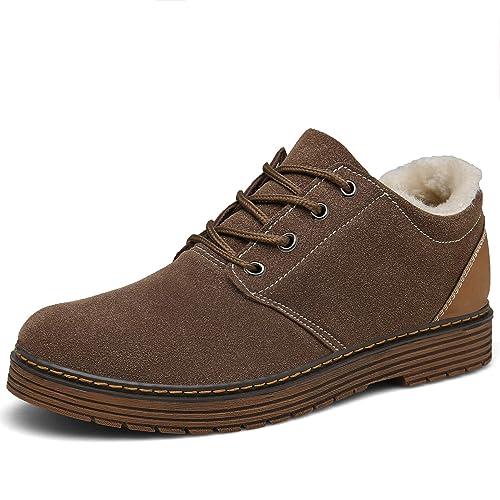 Bosleng Botines Hombre Mujer Zapatos Invierno Calientes Forradas Clasicas Cordones Boots: Amazon.es: Zapatos y complementos