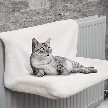 FiNeWaY@ - Cama para radiador, armazón de metal resistente y funda de forro polar. Ideal para gatos o perros pequeños: Amazon.es: Productos para mascotas