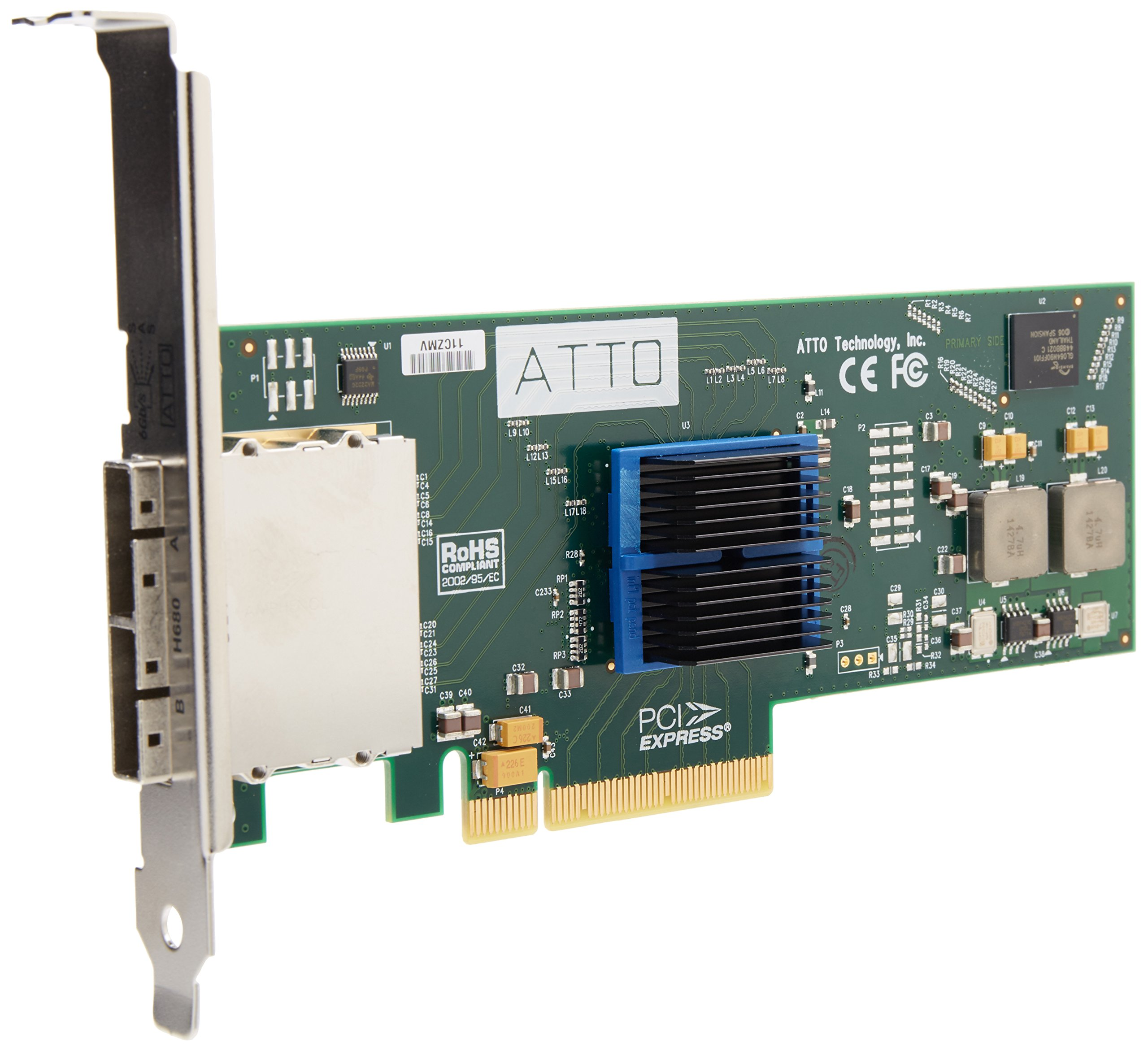 Express SASX8 8CH Sas PCIE8 2.0 To 6GB Sata Low-profile Rohs by ATTO Technology