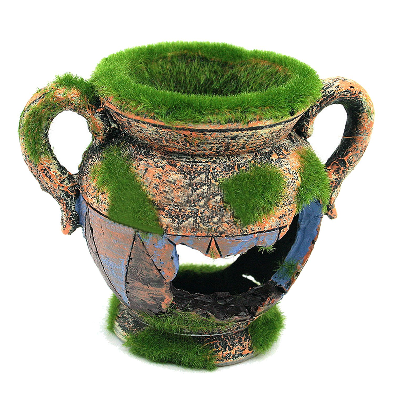 Beetest-Simulation Moss Vase Fish Shelter Cave Aquarium Fish Tank Landscape Ornament Decoration