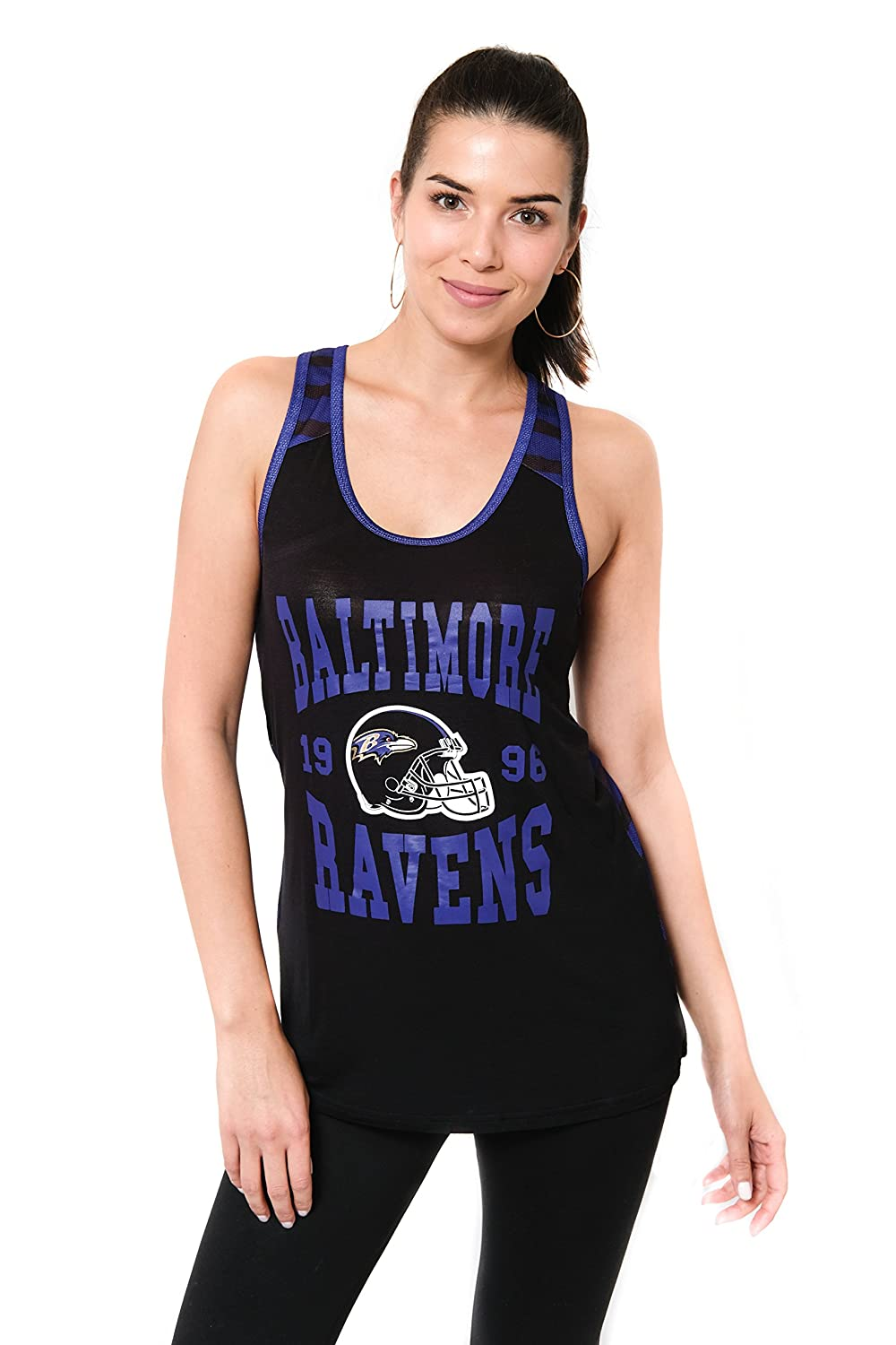 NFL Baltimore Ravens Ultra Game Womens MESH RACERBACK TANK Team Color X-Large