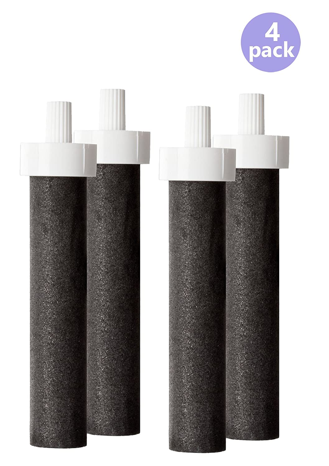 Brita Water Filter Bottle Replacement Filters, (4 Count)