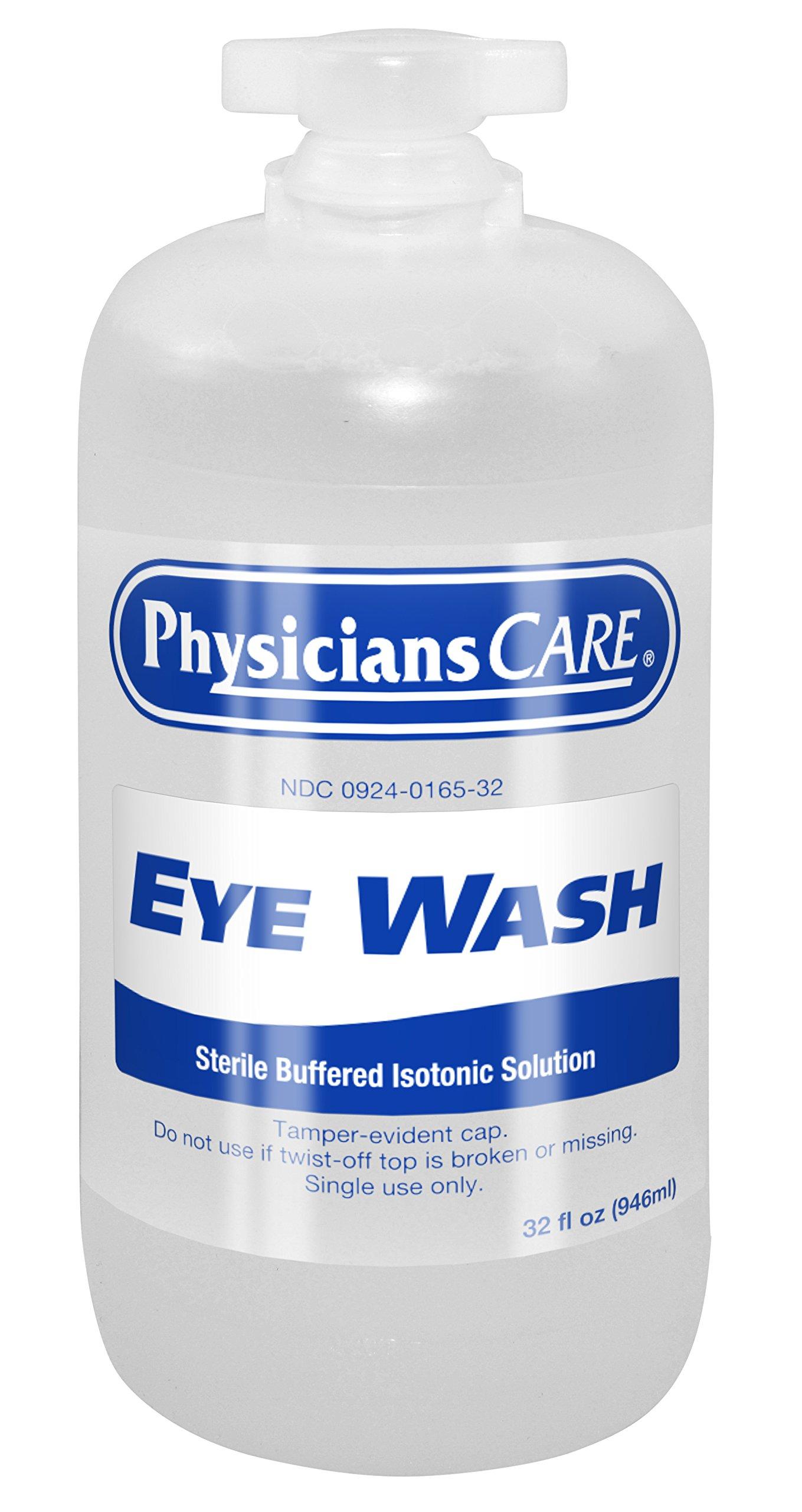 PhysiciansCare 500-90547 Eyewash Bottle, 32 oz. (Pack of 12)