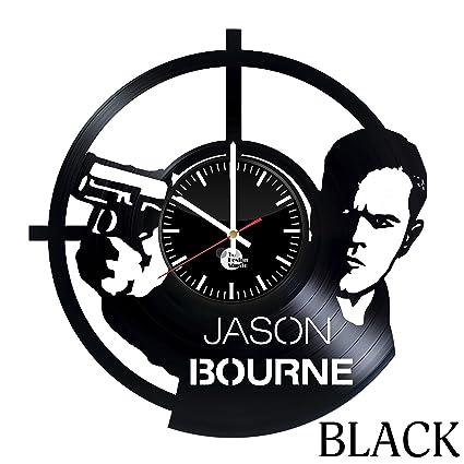 The Jason Bourne Vinyl Record Wall Clock   Get Unique Bathroom Wall Decor    Gift Ideas