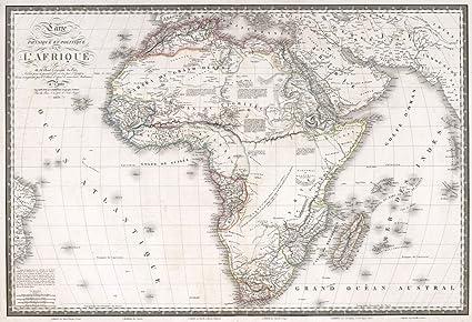 Carte De Lafrique Antique.Historic Pictoric 1829 World Atlas Carte Physique Et