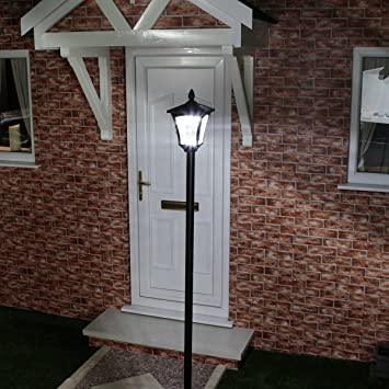 21m large outdoor solar powered black lamp post by festive lights 21m large outdoor solar powered black lamp post by festive lights white led aloadofball Images