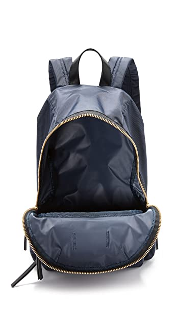 Amazon.com | Marc Jacobs Womens Nylon Biker Backpack, Midnight, One Size | Casual Daypacks