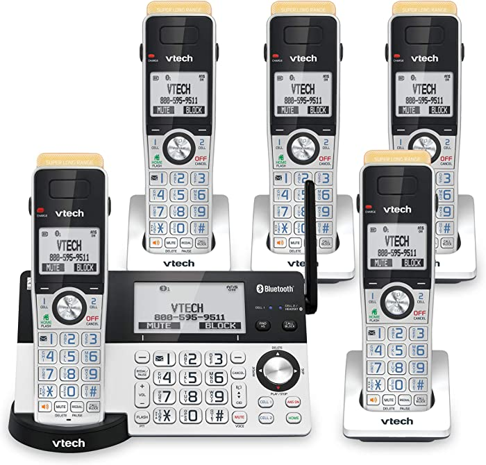 The Best Home Phones Landline Cordless 2 Handsets With Bluetooth