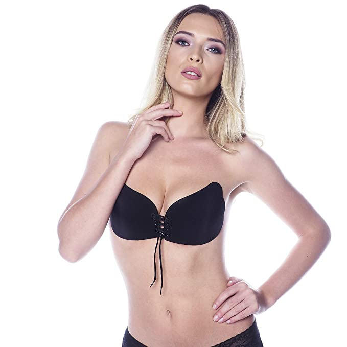 clear-cut texture search for newest detailing Stick on Bra Push Up - Strapless Sticky Backless Invisible Bra - Adhesive  Silicone Lift Up Bra